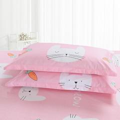 2018最新纯棉枕套 48*47cm一只 可可兔-粉色