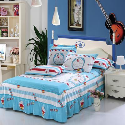 最新13070纯棉单件床罩床裙 100cmx200cm定制,可退换 哆啦A梦