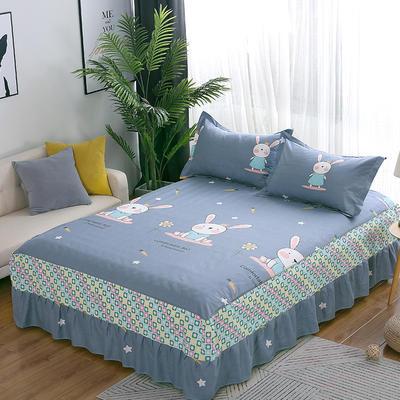 最新13070纯棉单件床罩床裙 100cmx200cm定制,可退换 乖乖兔