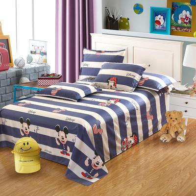 新款13070纯棉全棉单件床单 100cmx220cm 百变米奇
