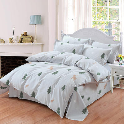 最新13070纯棉床单四件套 1.0m(3.3英尺)床 微笑