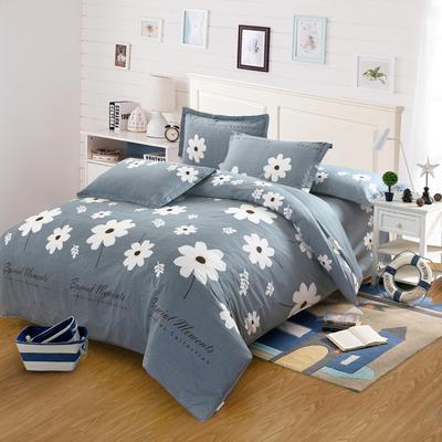 最新13070纯棉床单四件套 1.0m(3.3英尺)床 温婉花语-灰