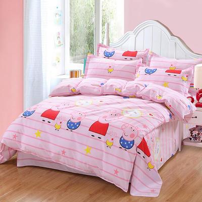 最新13070纯棉床单四件套 1.0m(3.3英尺)床 我爱佩琪