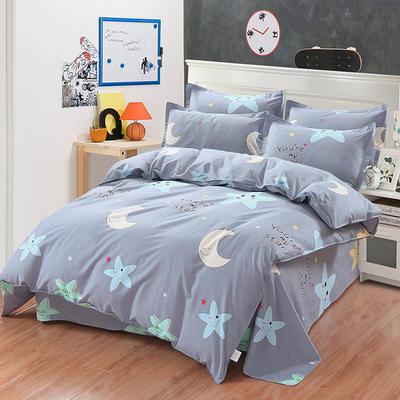 最新13070纯棉床单四件套 1.0m(3.3英尺)床 星月物语