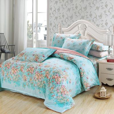 最新13070纯棉床单四件套 1.0m(3.3英尺)床 一诺倾情B
