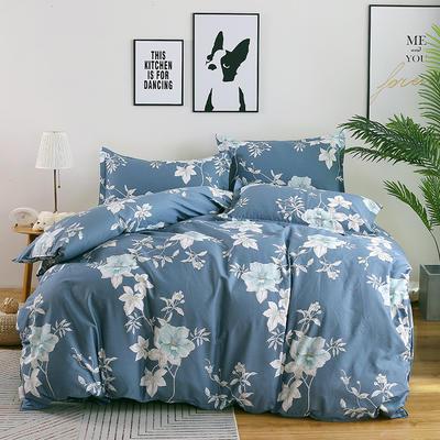 最新13070纯棉床单四件套 1.0m(3.3英尺)床 优雅多姿