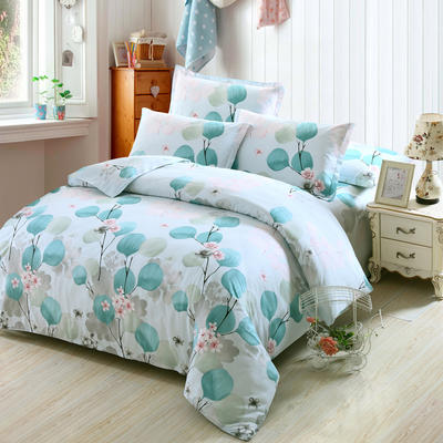 最新13070纯棉床单四件套 1.0m(3.3英尺)床 月半开