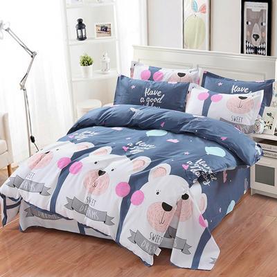 最新13070纯棉床单四件套 1.0m(3.3英尺)床 至尊宝