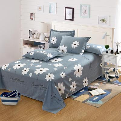新款13070纯棉全棉单件床单 100cmx220cm 温婉花语-灰