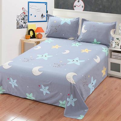 新款13070纯棉全棉单件床单 100cmx220cm 星月物语