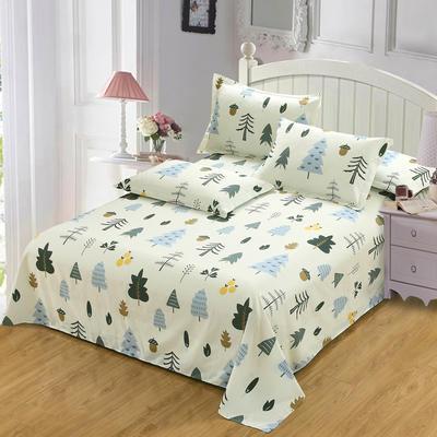 新款13070纯棉全棉单件床单 100cmx220cm 月光森林