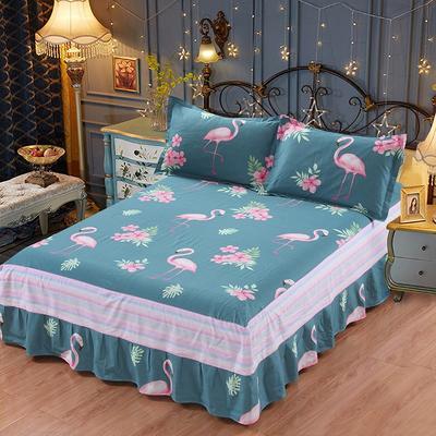 最新13070纯棉单件床罩床裙 100cmx200cm定制,可退换 花鸟世界