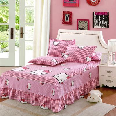 最新13070纯棉单件床罩床裙 100cmx200cm定制,可退换 凯蒂之家