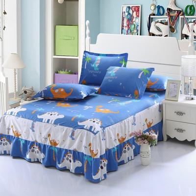 最新13070纯棉单件床罩床裙 100cmx200cm定制,可退换 恐龙乐园