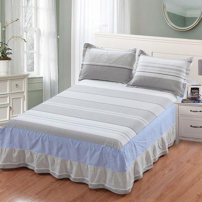 最新13070纯棉单件床罩床裙 100cmx200cm定制,可退换 日光倾城