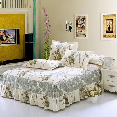 最新13070纯棉单件床罩床裙 100cmx200cm定制,可退换 似水年华