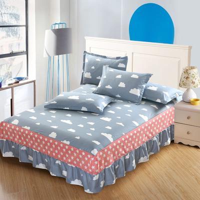 最新13070纯棉单件床罩床裙 100cmx200cm定制,可退换 天空之城