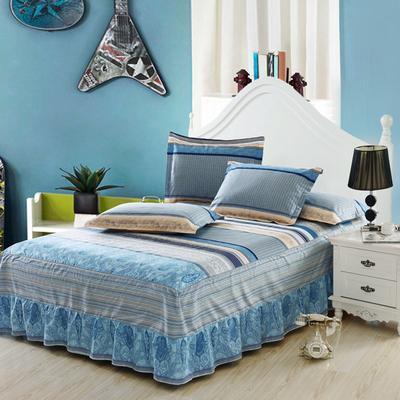 最新13070纯棉单件床罩床裙 100cmx200cm定制,可退换 威凯斯