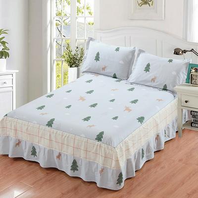 最新13070纯棉单件床罩床裙 100cmx200cm定制,可退换 微笑