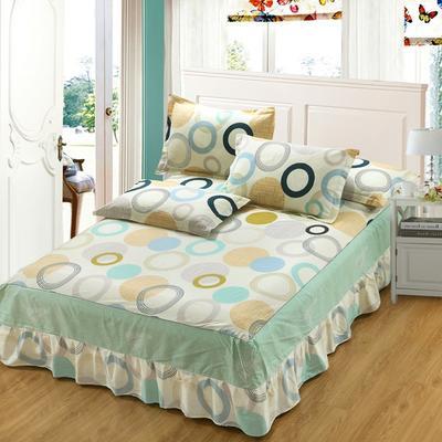 最新13070纯棉单件床罩床裙 100cmx200cm定制,可退换 幸福相约