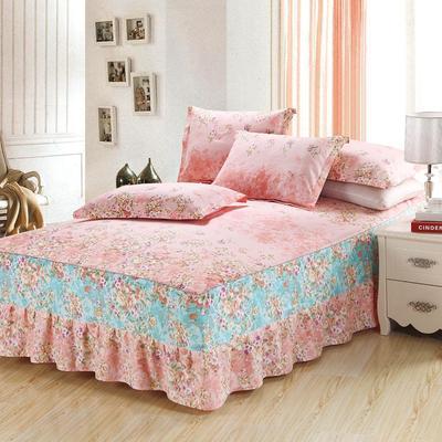 最新13070纯棉单件床罩床裙 100cmx200cm定制,可退换 一诺倾情A