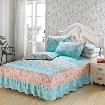 最新13070纯棉单件床罩床裙 100cmx200cm定制,可退换 一诺倾情B