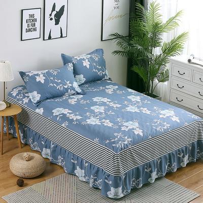 最新13070纯棉单件床罩床裙 100cmx200cm定制,可退换 优雅多姿