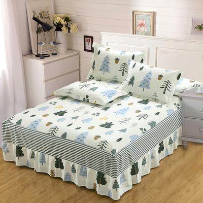 最新13070纯棉单件床罩床裙 100cmx200cm定制,可退换 月光森林
