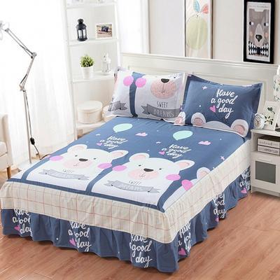 最新13070纯棉单件床罩床裙 100cmx200cm定制,可退换 至尊宝
