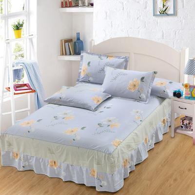 最新13070纯棉单件床罩床裙 100cmx200cm定制,可退换 醉花词