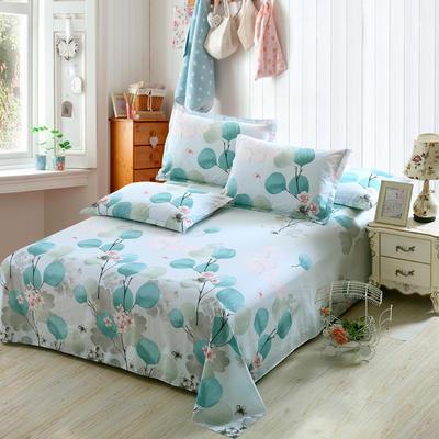 新款13070纯棉全棉单件床单 100cmx220cm 月半开