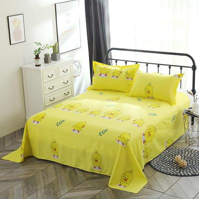 新款13070纯棉全棉单件床单 100cmx220cm 小黄鸭