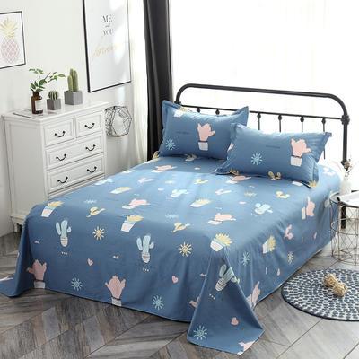 新款13070纯棉全棉单件床单 100cmx220cm 小清新