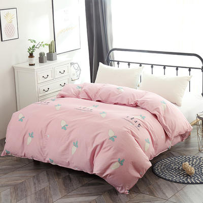 最新款13070纯棉被套 100*100cm(定做) 快乐萝卜