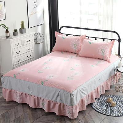 最新13070纯棉单件床罩床裙 100cmx200cm定制,可退换 等风来