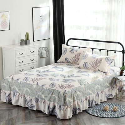 最新13070纯棉单件床罩床裙 100cmx200cm定制,可退换 美好