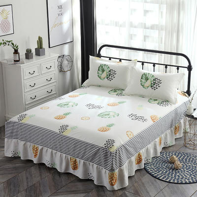 最新13070纯棉单件床罩床裙 100cmx200cm定制,可退换 水果派