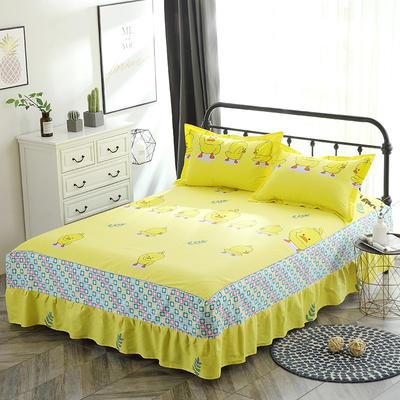 最新13070纯棉单件床罩床裙 100cmx200cm定制,可退换 小黄鸭