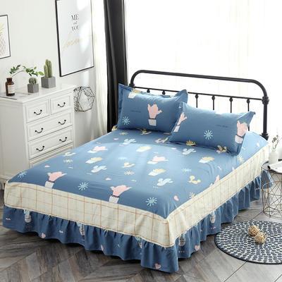 最新13070纯棉单件床罩床裙 100cmx200cm定制,可退换 小清新