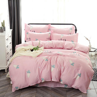 最新13070纯棉床单四件套 1.0m(3.3英尺)床 快乐萝卜