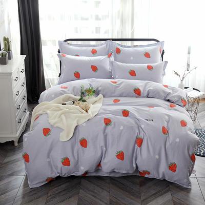 最新13070纯棉床单四件套 1.0m(3.3英尺)床 甜心草莓