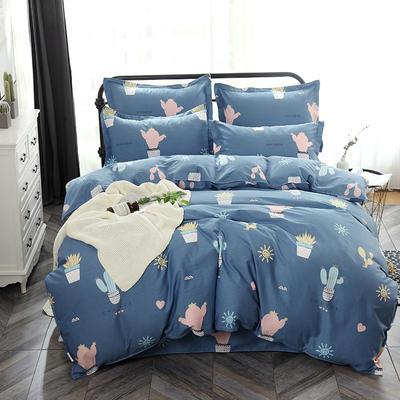 最新13070纯棉床单四件套 1.0m(3.3英尺)床 小清新