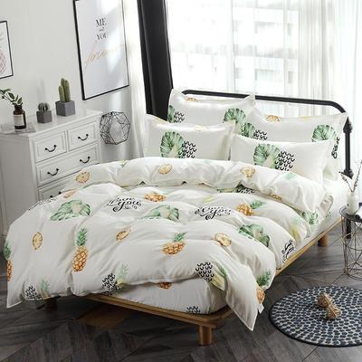 新款13070纯棉席梦思床笠四件套 1.0m(3.3英尺)床 水果派