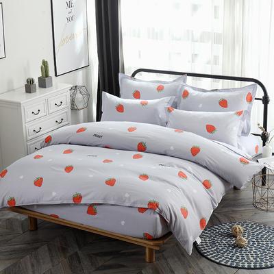 新款13070纯棉席梦思床笠四件套 1.0m(3.3英尺)床 甜心草莓