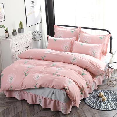 新款13070纯棉床裙四件套 1.0m(3.3英尺)床 等风来