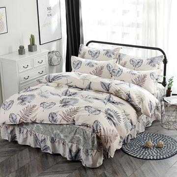 新款13070纯棉床裙四件套