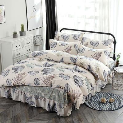 新款13070纯棉床裙四件套 1.0m(3.3英尺)床 美好
