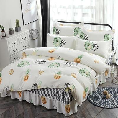 新款13070纯棉床裙四件套 1.0m(3.3英尺)床 水果派