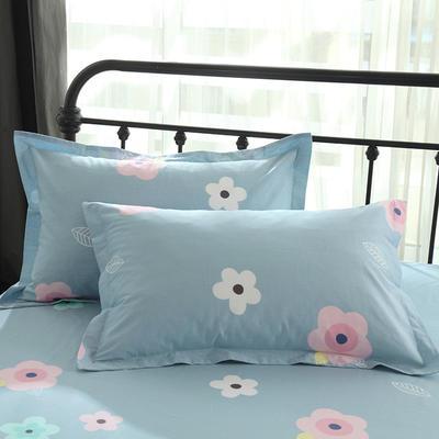 13070最新纯棉全棉枕套 48*47cm一只 花影芬芳 蓝