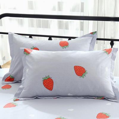 13070最新纯棉全棉枕套 48*47cm一只 甜心草莓